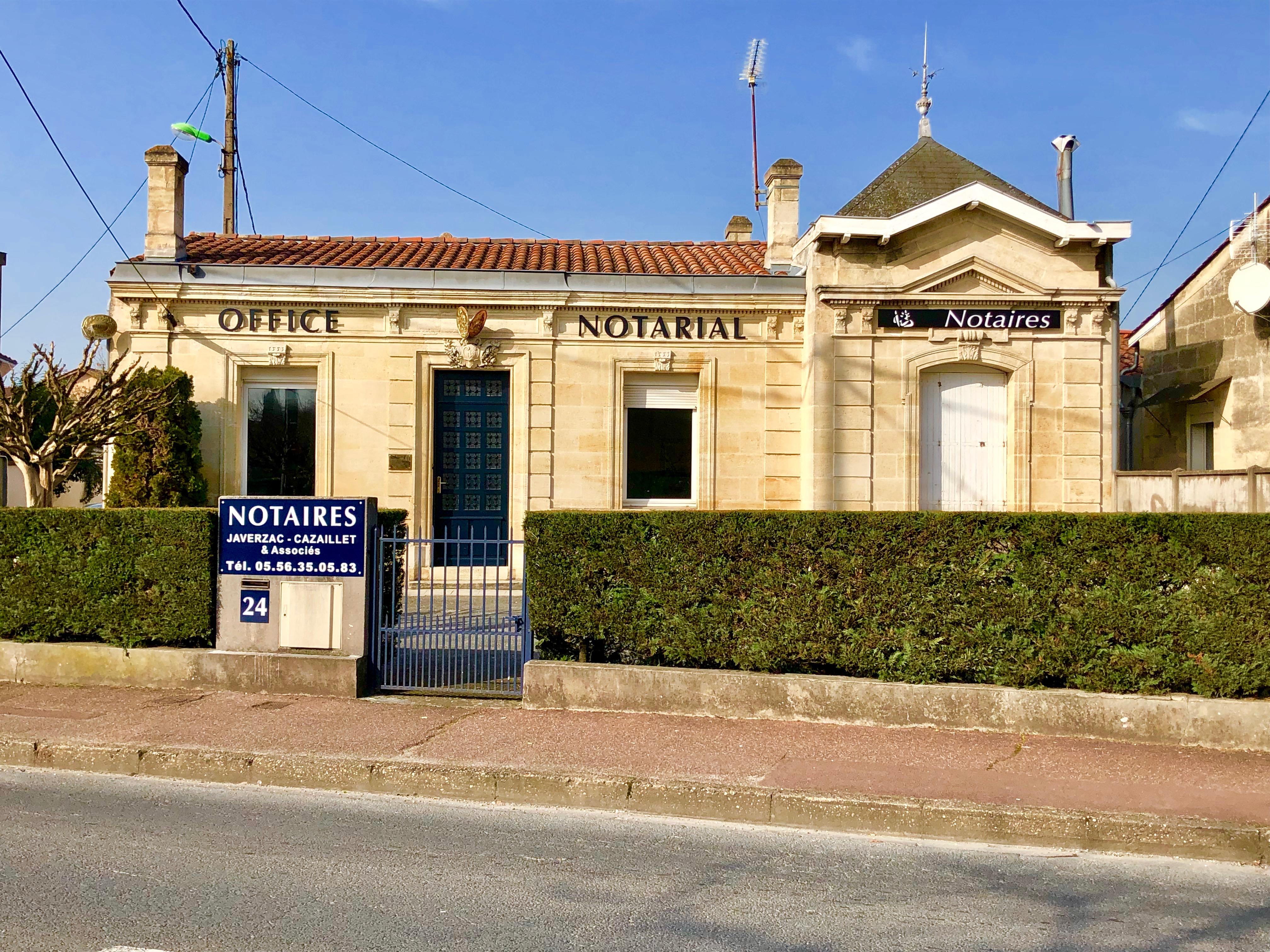 Notaire Blanquefort JAVERZAC CAZAILLET immobilier succession vente