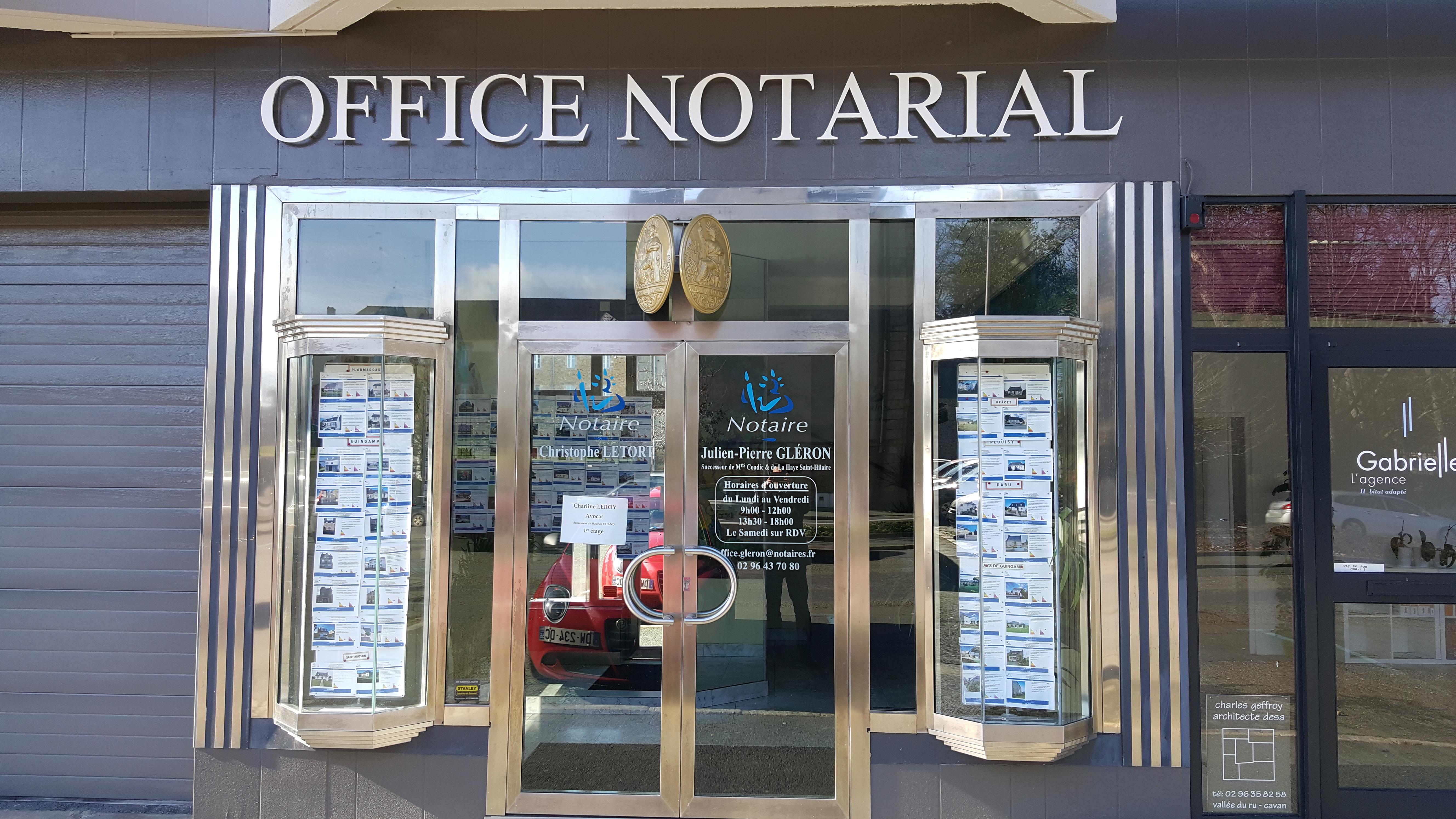 Notaire guingamp gleron achat vente maison appartement Notaire guingam